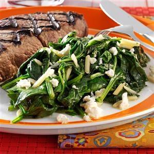 Spinach & Feta Saute Recipe