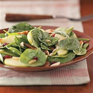 Spinach Almond Salad Recipe