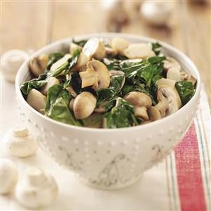 Spinach and Mushrooms Recipe