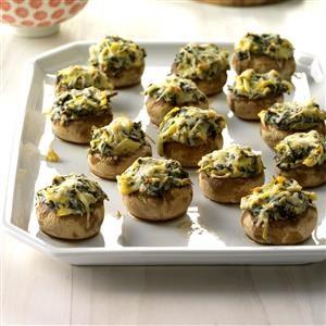 Spinach Artichoke-Stuffed Mushrooms Recipe