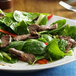 Spinach Beef Salad Recipe