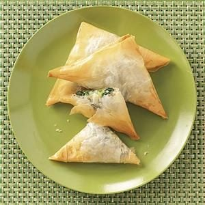 Spinach Cheese Triangles Recipe