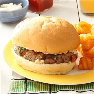 Spinach Feta Burgers Recipe