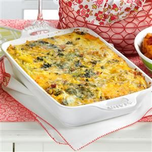 Spinach Hash Brown Frittata Recipe