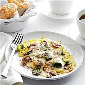 Spinach-Mushroom Scrambled Eggs