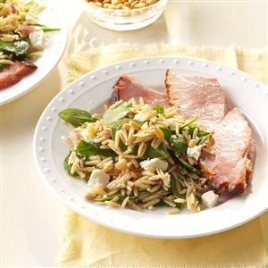 Spinach Orzo Salad Recipe