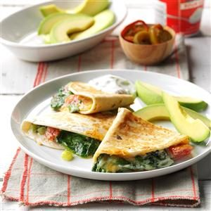 Spinach Quesadillas Recipe