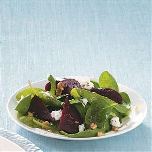 Spinach Salad with Goat Cheese and Beets Recipe