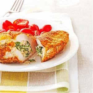 Spinach-Stuffed Chicken Pockets Recipe