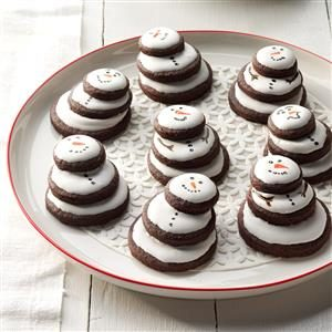 Stacked Snowman Cookies Recipe