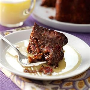Steamed Cranberry-Molasses Pudding