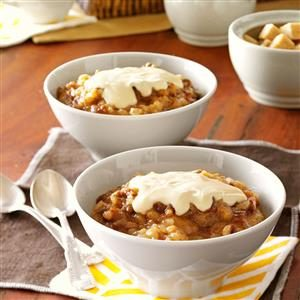 Sticky Toffee Rice Pudding with Caramel Cream