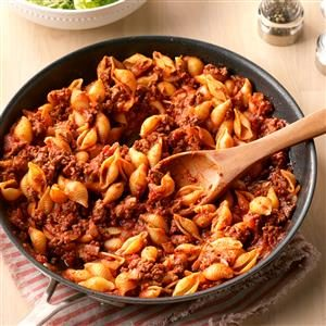 Stovetop Beef and Shells Recipe