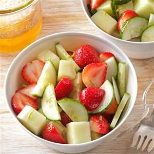 Strawberry, Cucumber & Honeydew Salad Recipe