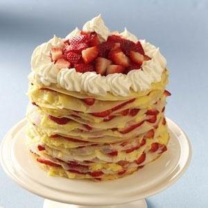 Strawberry-Lemon Crepe Cake Recipe