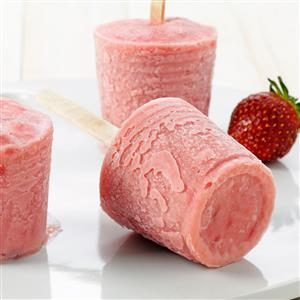 Strawberry-Rhubarb Ice Pops Recipe