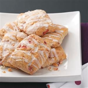 Strawberry Scones with Lemon Glaze Recipe