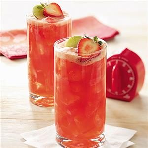 Watch Us Make: Strawberry Spritzer