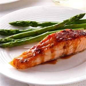 Strawberry-Teriyaki Glazed Salmon