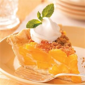 Streusel Peach Pie