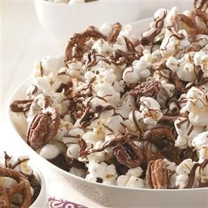 Striped Chocolate Popcorn Recipe