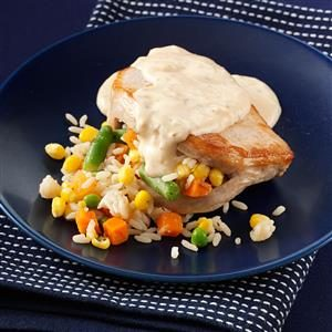 Stuffed Alfredo Pork Chops Recipe