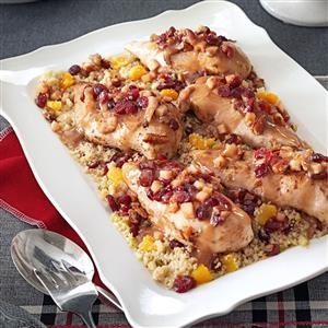 Stuffed Chicken Breasts with Cranberry Quinoa Recipe
