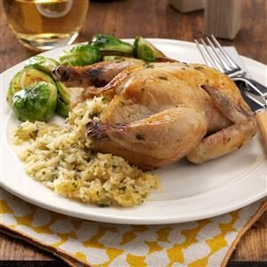 Stuffed Cornish Hens Recipe