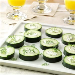 Stuffed Cuke Snacks Recipe