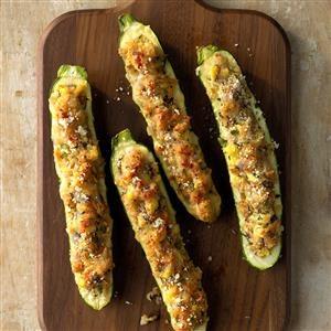 Stuffed Grilled Zucchini Recipe