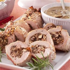 Stuffed Pork Tenderloin with Shiitake Mushroom Sauce Recipe