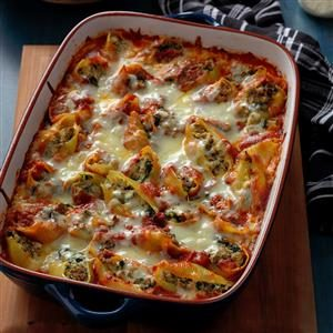 Stuffed Shells with Arrabbiata Sauce Recipe