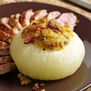 Stuffed Sweet Onions with Bacon Recipe