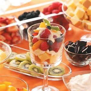 Summertime Fruit Trifles Recipe