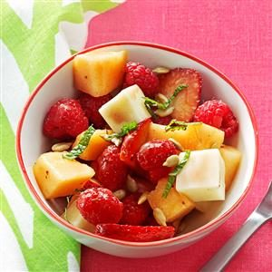 Sunny Strawberry & Cantaloupe Salad Recipe