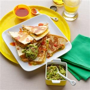 Super-Quick Shrimp & Green Chili Quesadillas Recipe