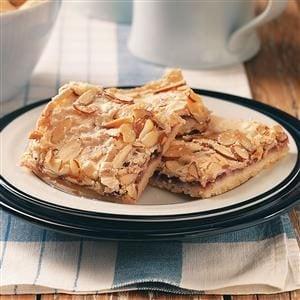 Swedish Raspberry Almond Bars Recipe