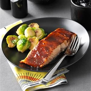 Sweet & Spicy Glazed Salmon Recipe