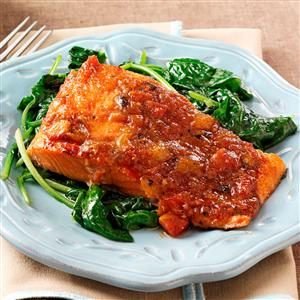 Sweet & Spicy Salmon Fillets Recipe