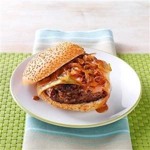 Sweet Onion BBQ Burgers Recipe