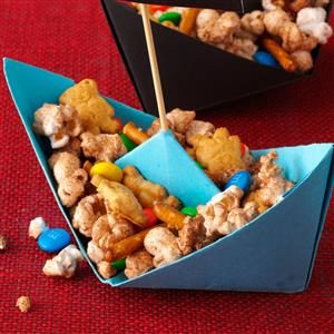 Sweet Popcorn Snack Mix Recipe