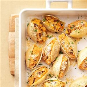 Sweet Potato & Caramelized Onion Shells Recipe