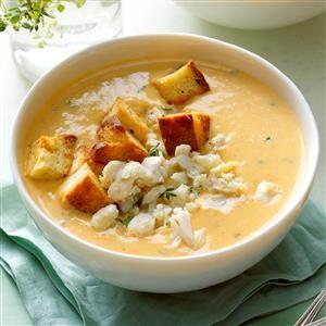 Sweet Potato and Crab Soup Recipe