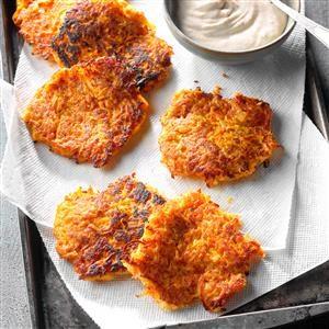 Sweet Potato Pancakes with Cinnamon Cream Recipe
