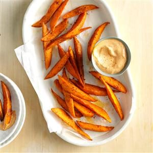 Sweet Potato Wedges with Chili Mayo Recipe