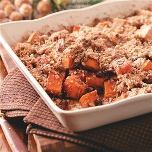 Sweet Potatoes with Pecan-Cinnamon Crunch Recipe