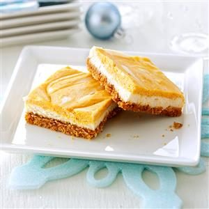 Swirled Pumpkin Cheesecake Bars Recipe