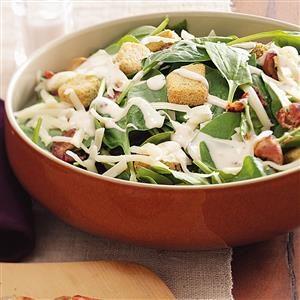 Swiss Spinach Salad Recipe