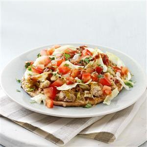 Taco Pita Pizzas Recipe