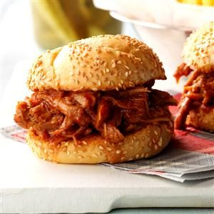 Tangy Pulled Pork Sandwiches Recipe